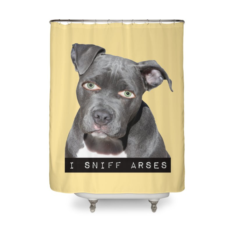 I Sniff Arses Home Shower Curtain by The Rake & Herald Online Clag Emporium