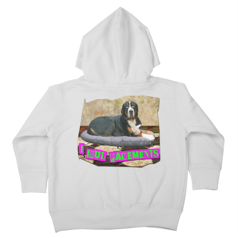 I Foul Pavements Kids Toddler Zip-Up Hoody by The Rake & Herald Online Clag Emporium