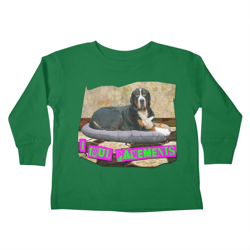 I Foul Pavements Kids Toddler Longsleeve T-Shirt by The Rake & Herald Online Clag Emporium