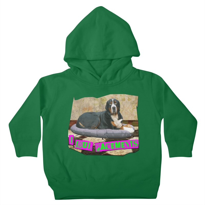 I Foul Pavements Kids Toddler Pullover Hoody by The Rake & Herald Online Clag Emporium