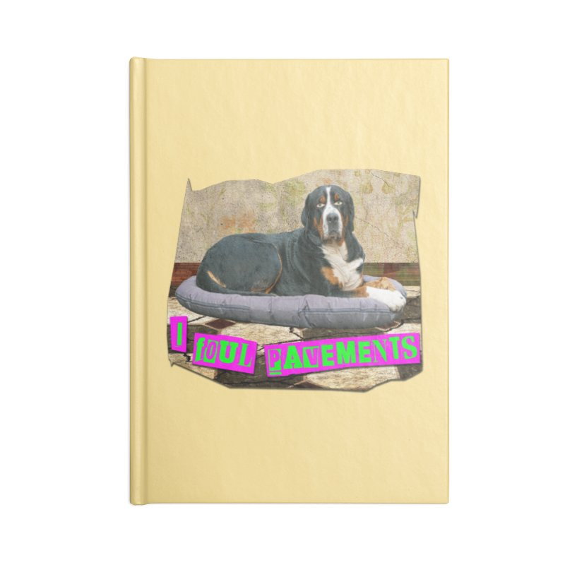 I Foul Pavements Accessories Notebook by The Rake & Herald Online Clag Emporium
