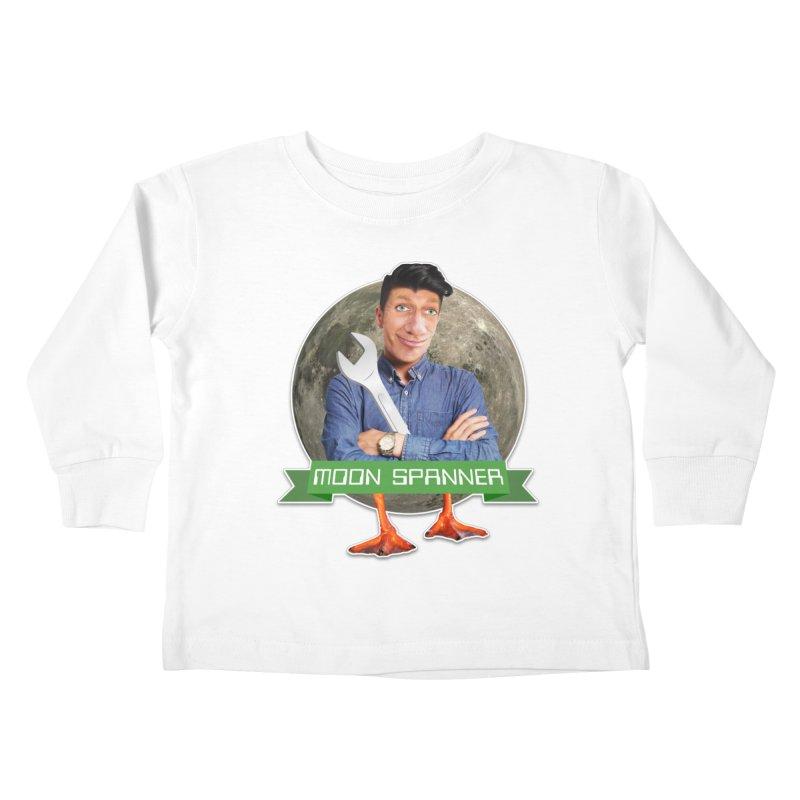 Moon Spanner Kids Toddler Longsleeve T-Shirt by The Rake & Herald Online Clag Emporium