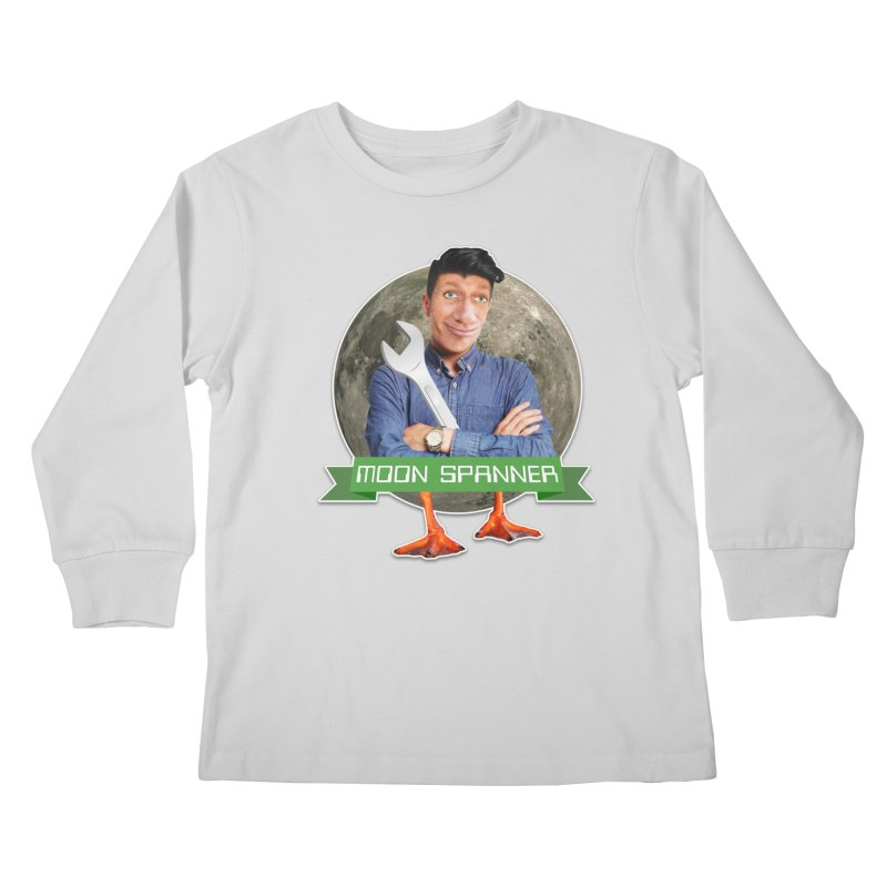 Moon Spanner Kids Longsleeve T-Shirt by The Rake & Herald Online Clag Emporium