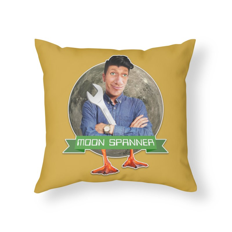 Moon Spanner Home Throw Pillow by The Rake & Herald Online Clag Emporium