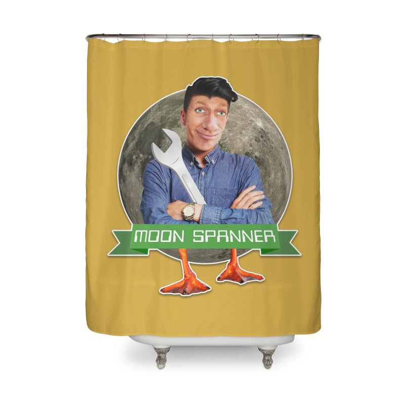 Moon Spanner Home Shower Curtain by The Rake & Herald Online Clag Emporium