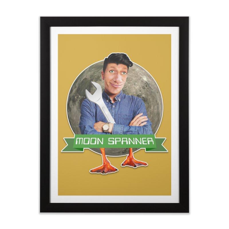 Moon Spanner Home Framed Fine Art Print by The Rake & Herald Online Clag Emporium