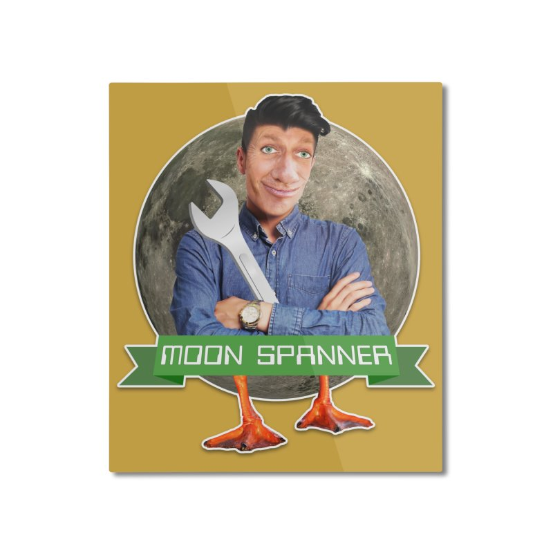 Moon Spanner Home Mounted Aluminum Print by The Rake & Herald Online Clag Emporium