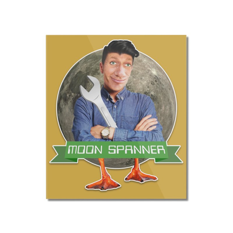 Moon Spanner Home Mounted Acrylic Print by The Rake & Herald Online Clag Emporium