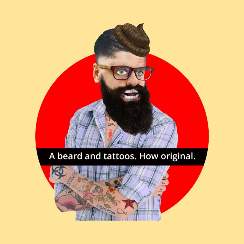 A Beard and Tattoos   by The Rake & Herald Online Clag Emporium