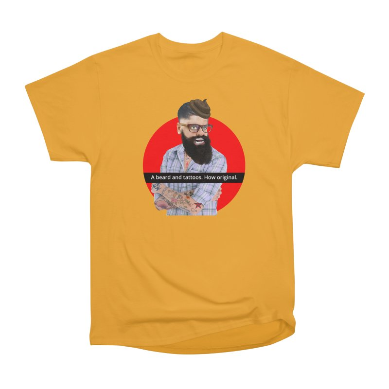A Beard and Tattoos Men's Classic T-Shirt by The Rake & Herald Online Clag Emporium