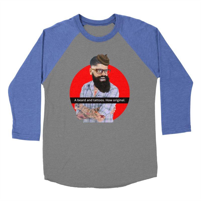 A Beard and Tattoos Women's Baseball Triblend T-Shirt by The Rake & Herald Online Clag Emporium
