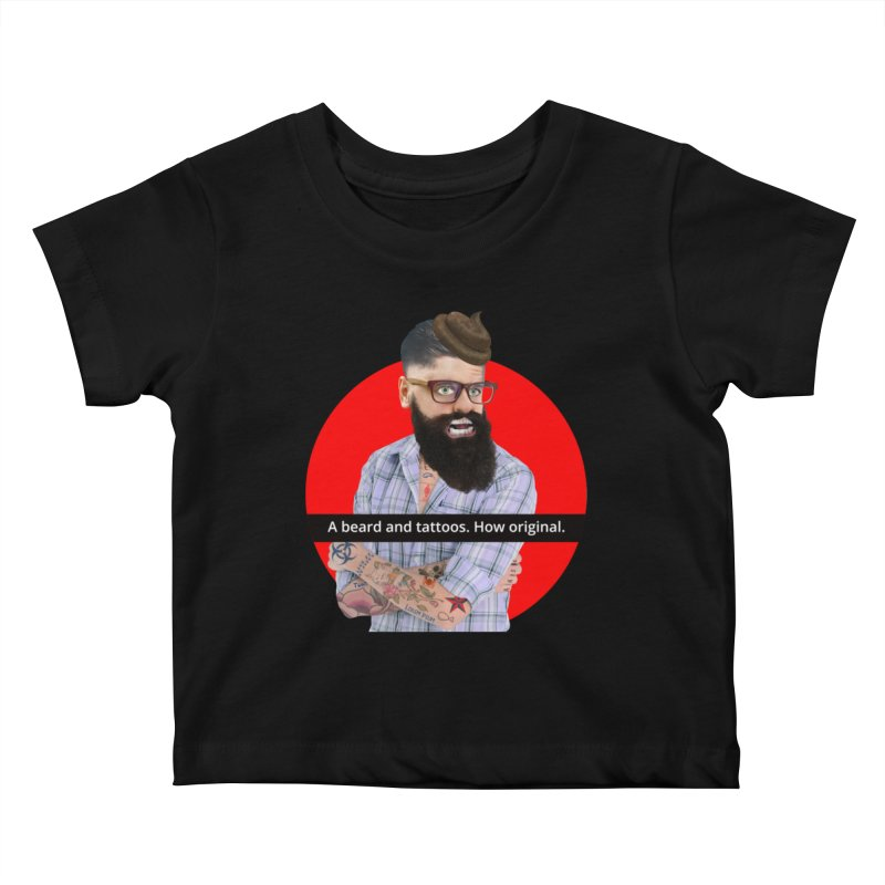 A Beard and Tattoos Kids Baby T-Shirt by The Rake & Herald Online Clag Emporium
