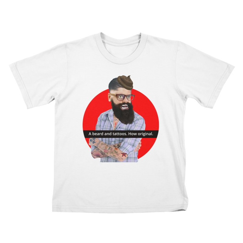 A Beard and Tattoos Kids T-Shirt by The Rake & Herald Online Clag Emporium