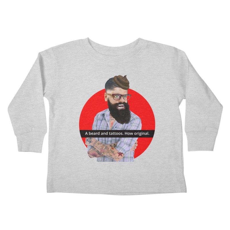 A Beard and Tattoos Kids Toddler Longsleeve T-Shirt by The Rake & Herald Online Clag Emporium