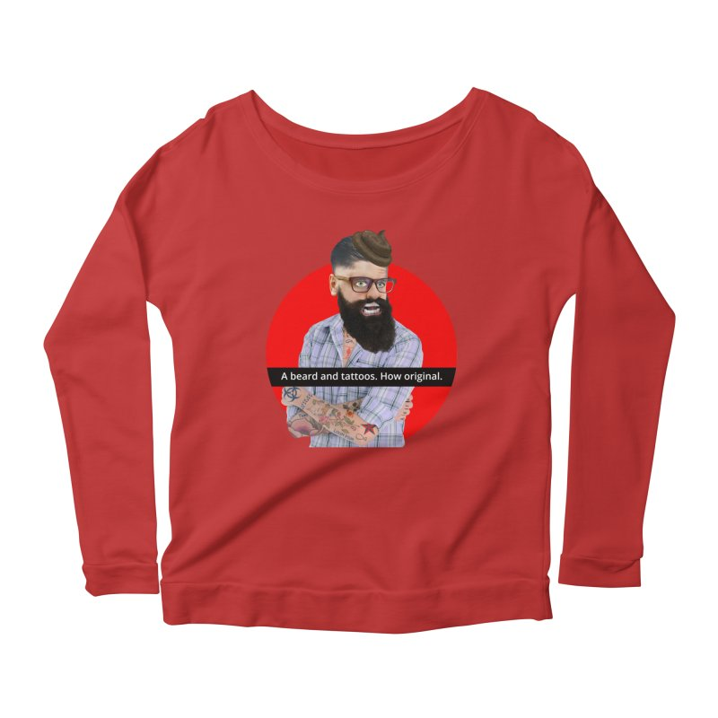 A Beard and Tattoos Women's Longsleeve Scoopneck  by The Rake & Herald Online Clag Emporium