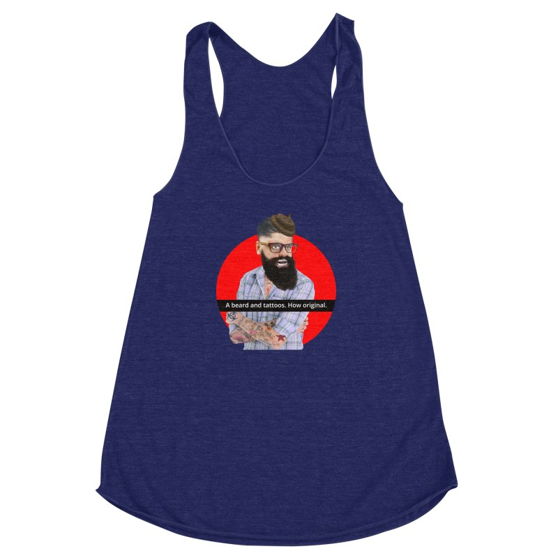 A Beard and Tattoos Women's Racerback Triblend Tank by The Rake & Herald Online Clag Emporium