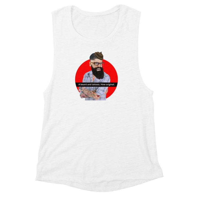 A Beard and Tattoos Women's Muscle Tank by The Rake & Herald Online Clag Emporium