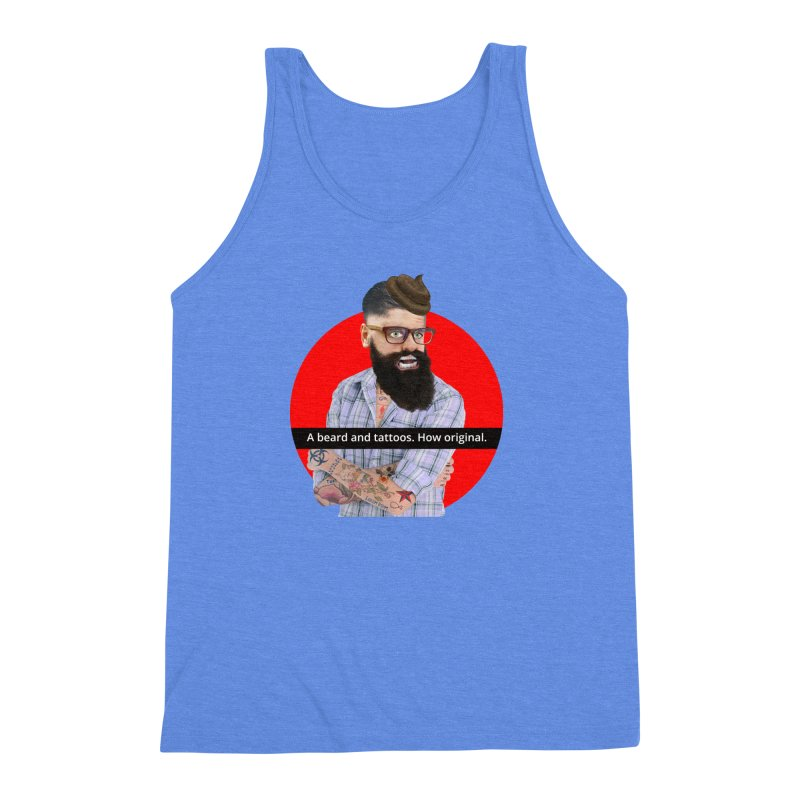 A Beard and Tattoos Men's Triblend Tank by The Rake & Herald Online Clag Emporium