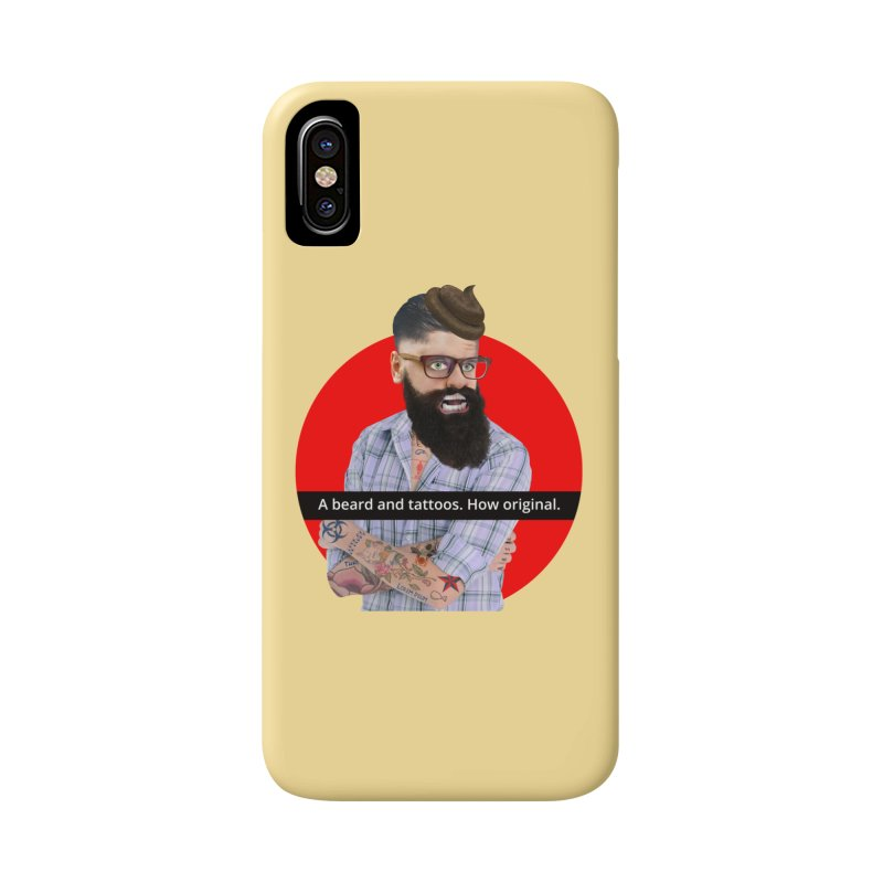 A Beard and Tattoos Accessories Phone Case by The Rake & Herald Online Clag Emporium