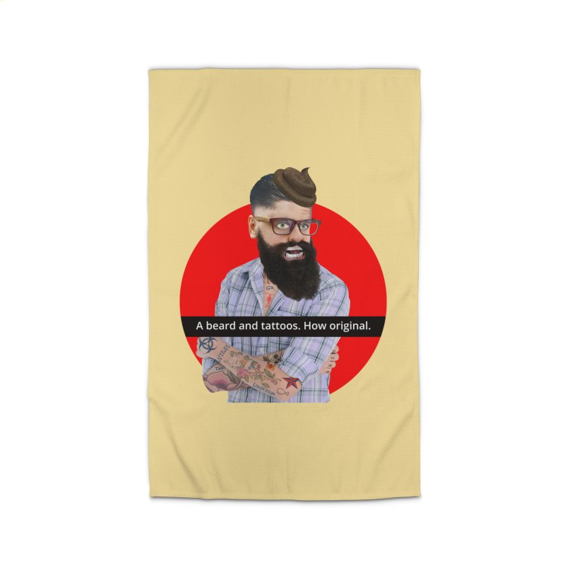 A Beard and Tattoos Home Rug by The Rake & Herald Online Clag Emporium