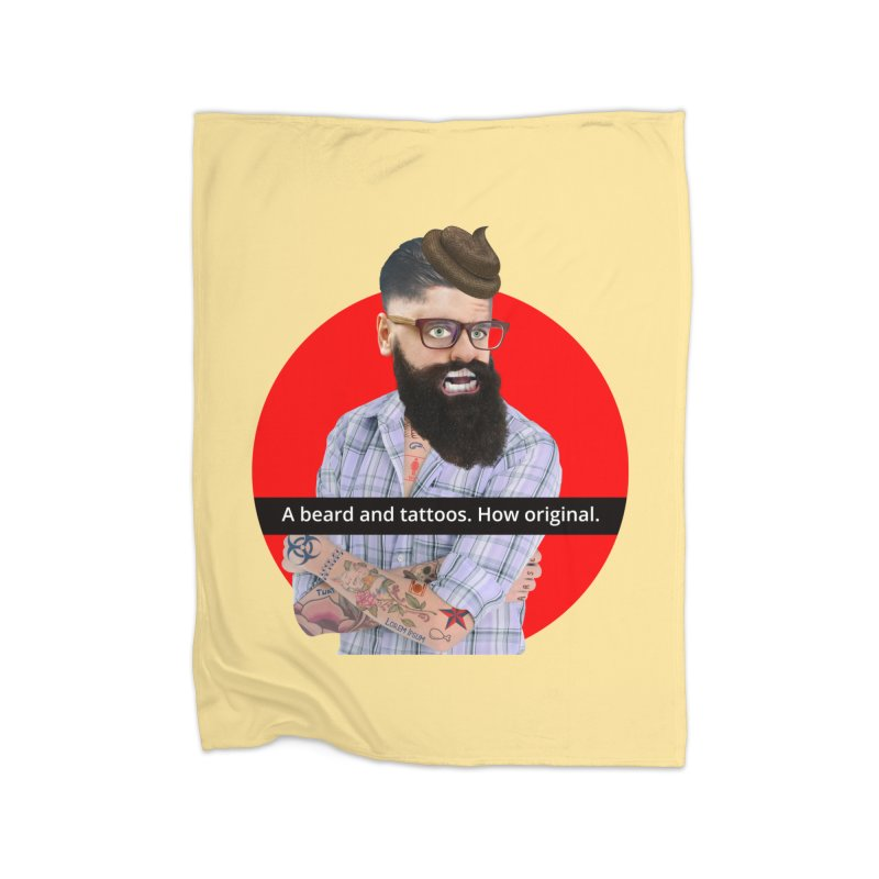 A Beard and Tattoos Home Blanket by The Rake & Herald Online Clag Emporium