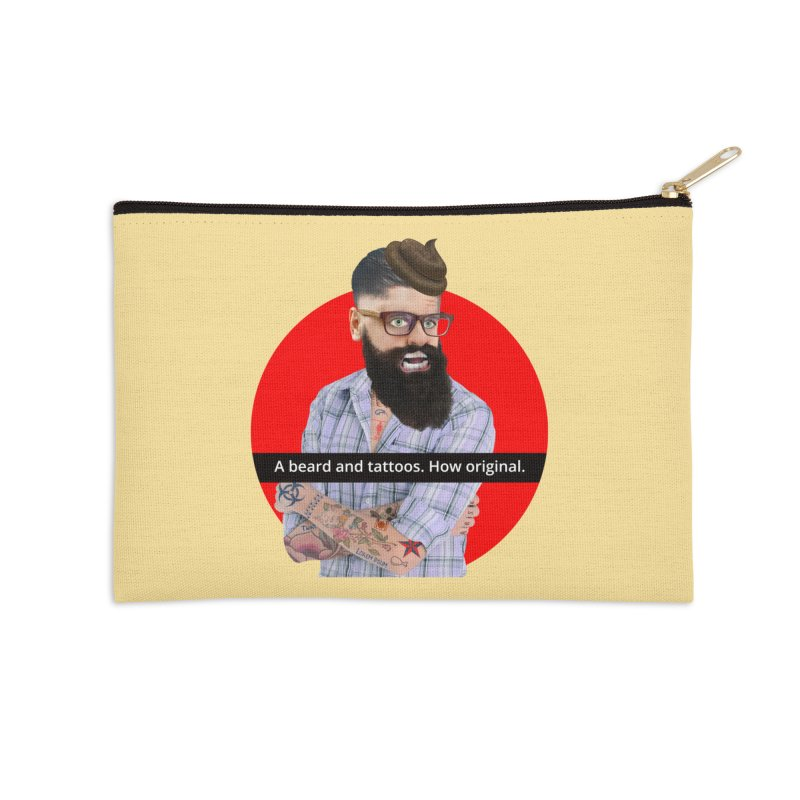 A Beard and Tattoos Accessories Zip Pouch by The Rake & Herald Online Clag Emporium