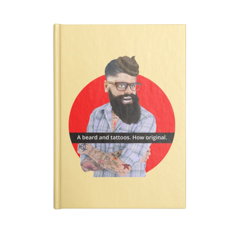 A Beard and Tattoos Accessories Notebook by The Rake & Herald Online Clag Emporium