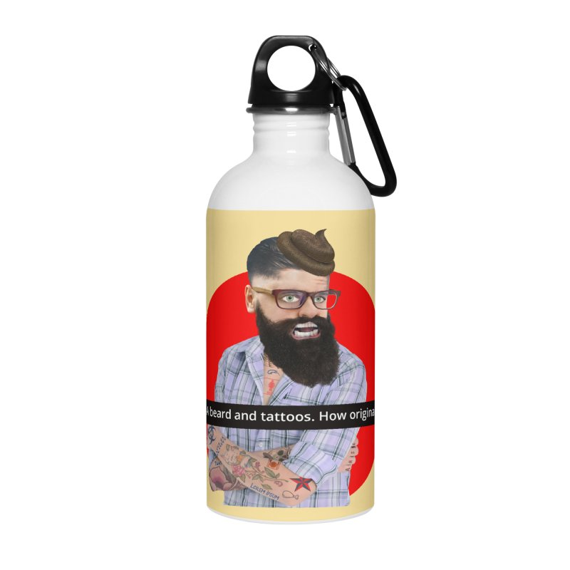 A Beard and Tattoos Accessories Water Bottle by The Rake & Herald Online Clag Emporium