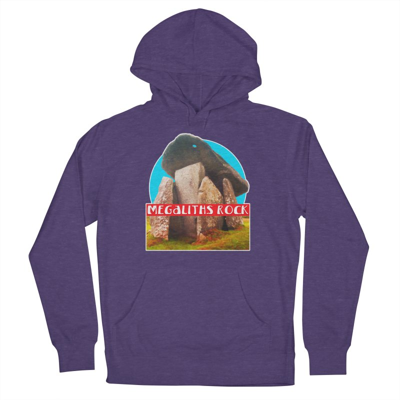 Megaliths Rock Women's French Terry Pullover Hoody by The Rake & Herald Online Clag Emporium