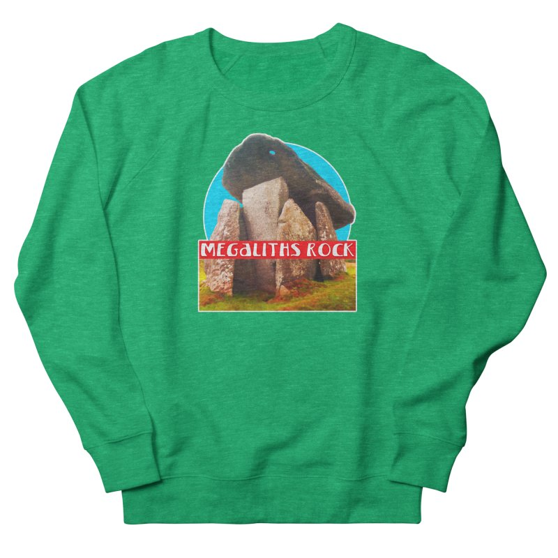 Megaliths Rock Women's French Terry Sweatshirt by The Rake & Herald Online Clag Emporium