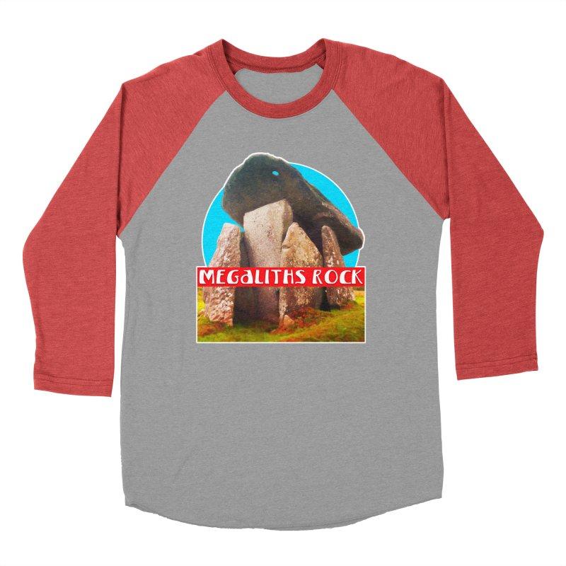 Megaliths Rock Women's Baseball Triblend Longsleeve T-Shirt by The Rake & Herald Online Clag Emporium