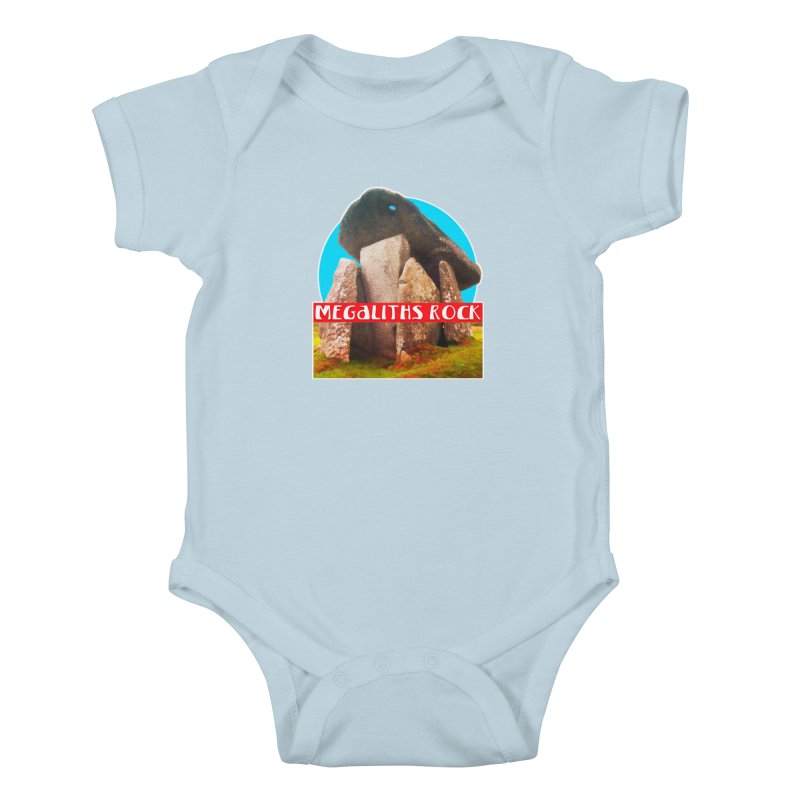 Megaliths Rock Kids Baby Bodysuit by The Rake & Herald Online Clag Emporium