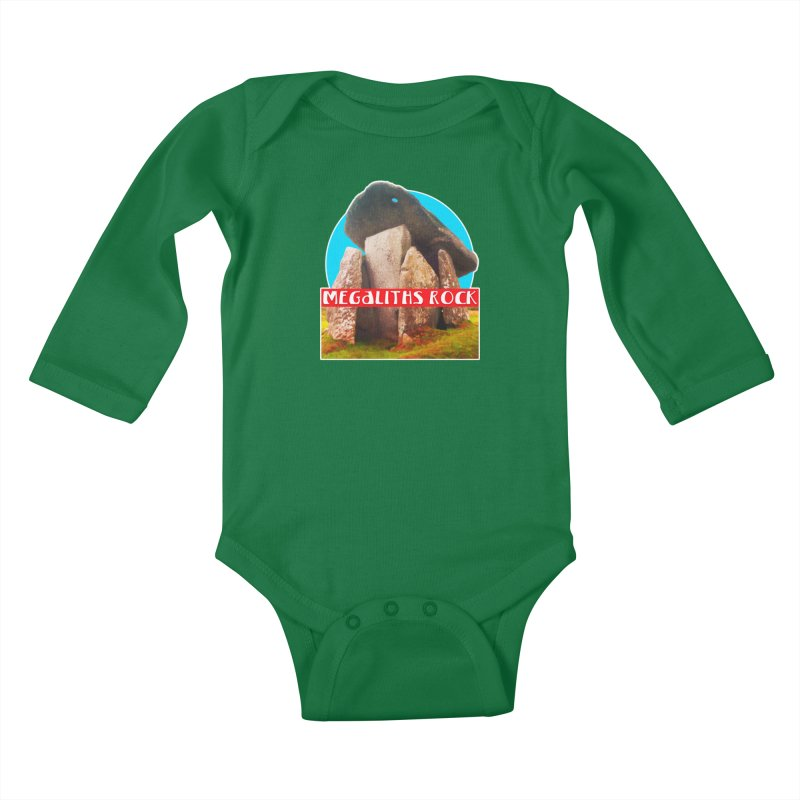 Megaliths Rock Kids Baby Longsleeve Bodysuit by The Rake & Herald Online Clag Emporium