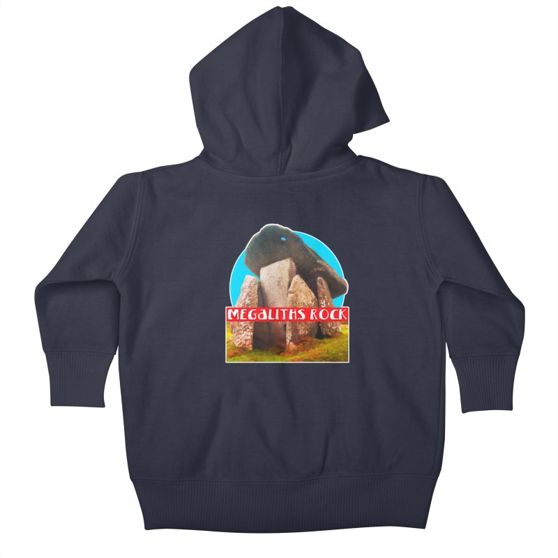 Megaliths Rock Kids Baby Zip-Up Hoody by The Rake & Herald Online Clag Emporium