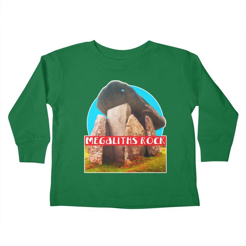 Megaliths Rock Kids Toddler Longsleeve T-Shirt by The Rake & Herald Online Clag Emporium