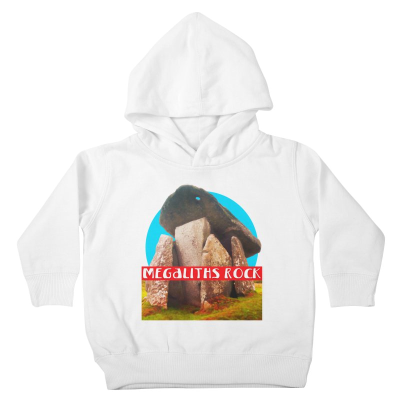 Megaliths Rock Kids Toddler Pullover Hoody by The Rake & Herald Online Clag Emporium