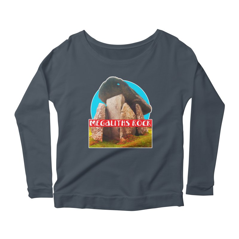 Megaliths Rock Women's Longsleeve Scoopneck  by The Rake & Herald Online Clag Emporium