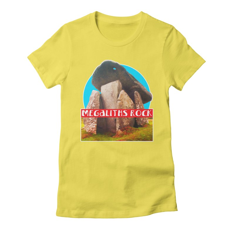 Megaliths Rock Women's Fitted T-Shirt by The Rake & Herald Online Clag Emporium