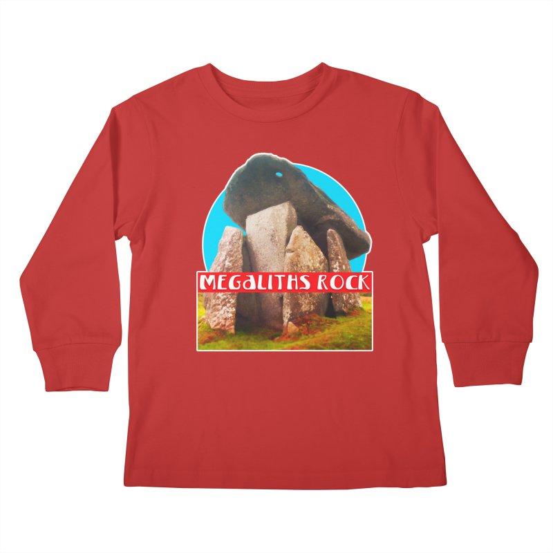 Megaliths Rock Kids Longsleeve T-Shirt by The Rake & Herald Online Clag Emporium
