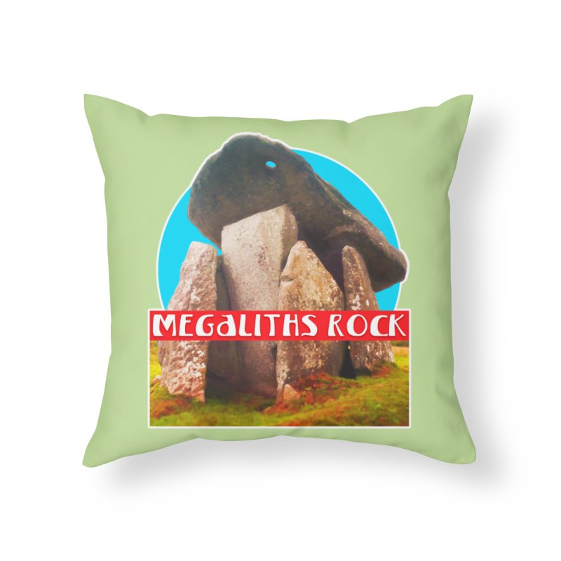 Megaliths Rock Home Throw Pillow by The Rake & Herald Online Clag Emporium