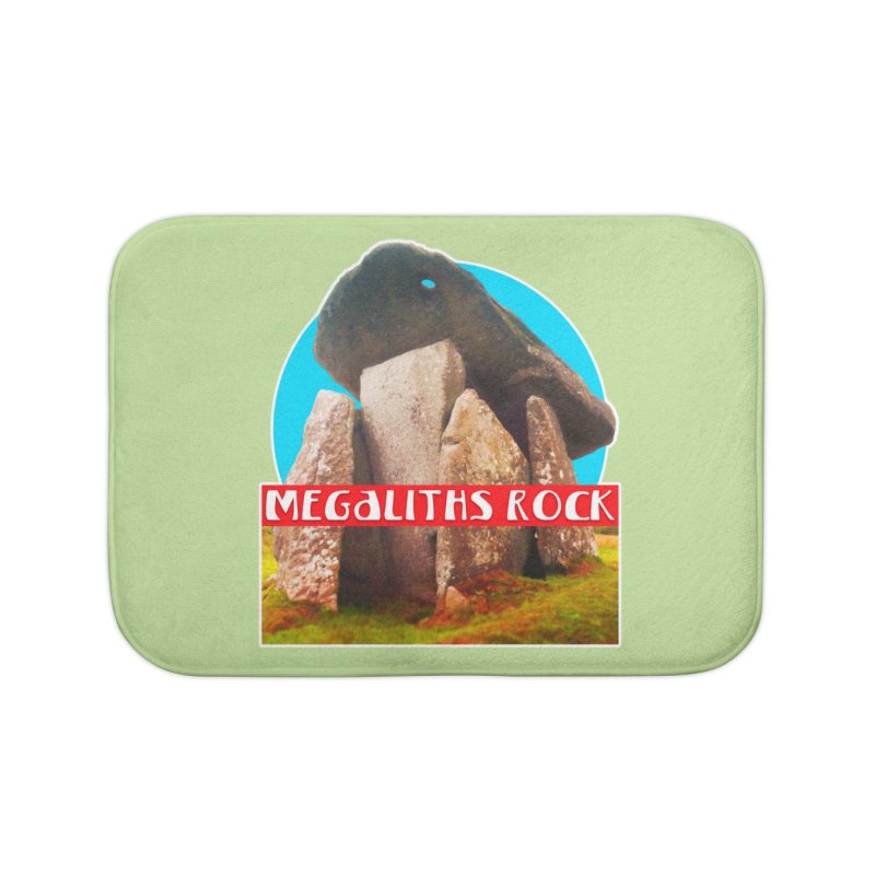 Megaliths Rock Home Bath Mat by The Rake & Herald Online Clag Emporium