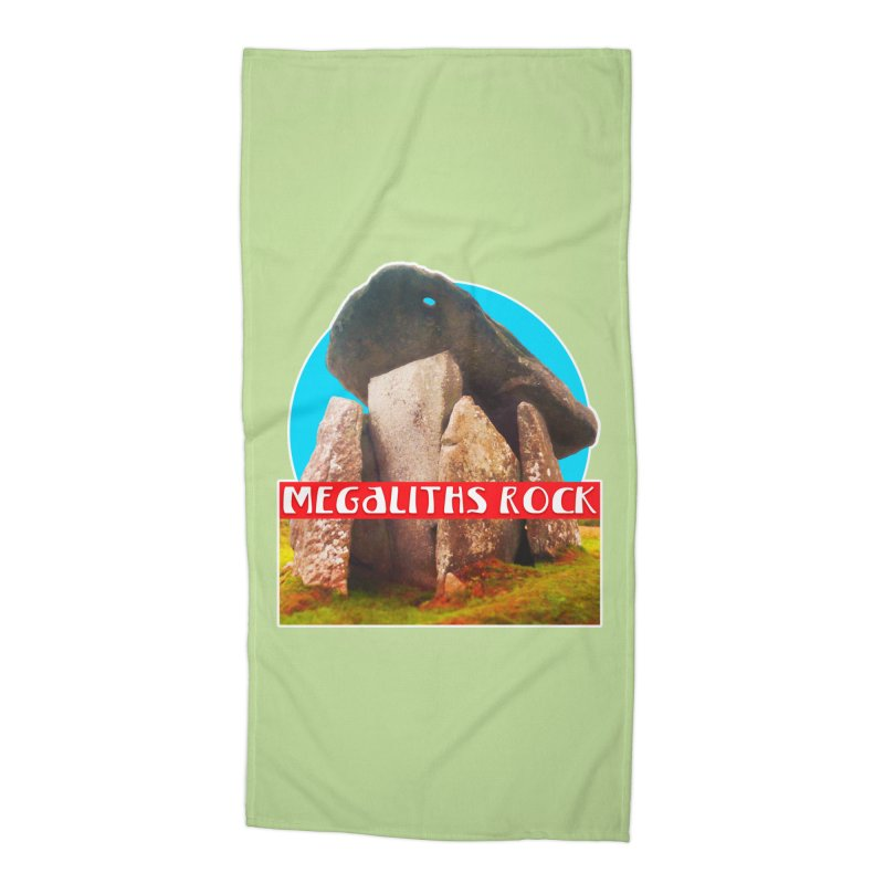 Megaliths Rock Accessories Beach Towel by The Rake & Herald Online Clag Emporium
