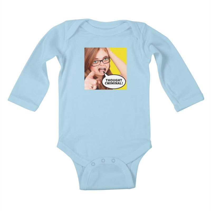 Thought Cwiminal Kids Baby Longsleeve Bodysuit by The Rake & Herald Online Clag Emporium