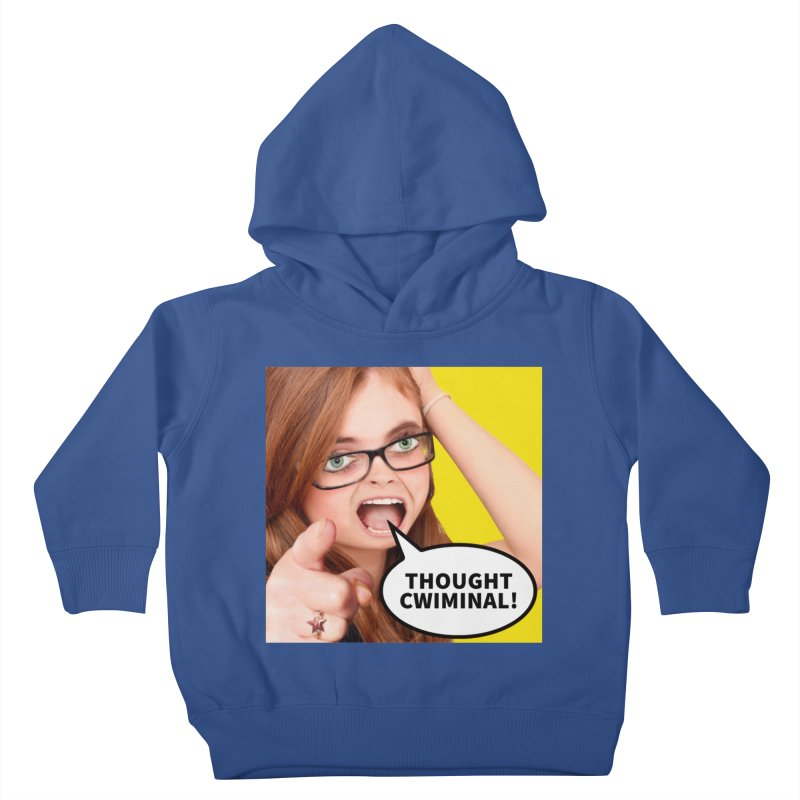 Thought Cwiminal Kids Toddler Pullover Hoody by The Rake & Herald Online Clag Emporium