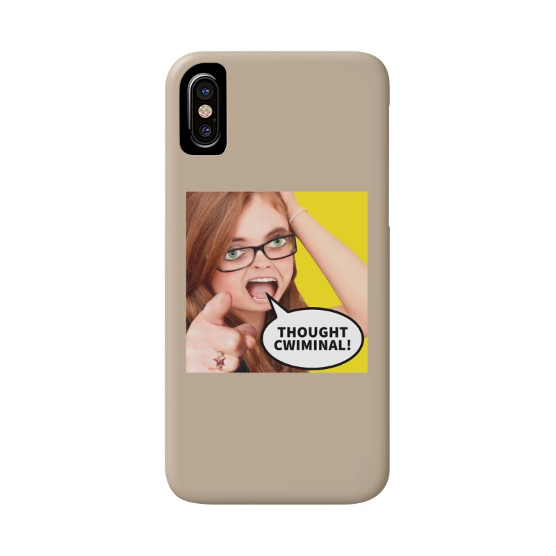 Thought Cwiminal Accessories Phone Case by The Rake & Herald Online Clag Emporium