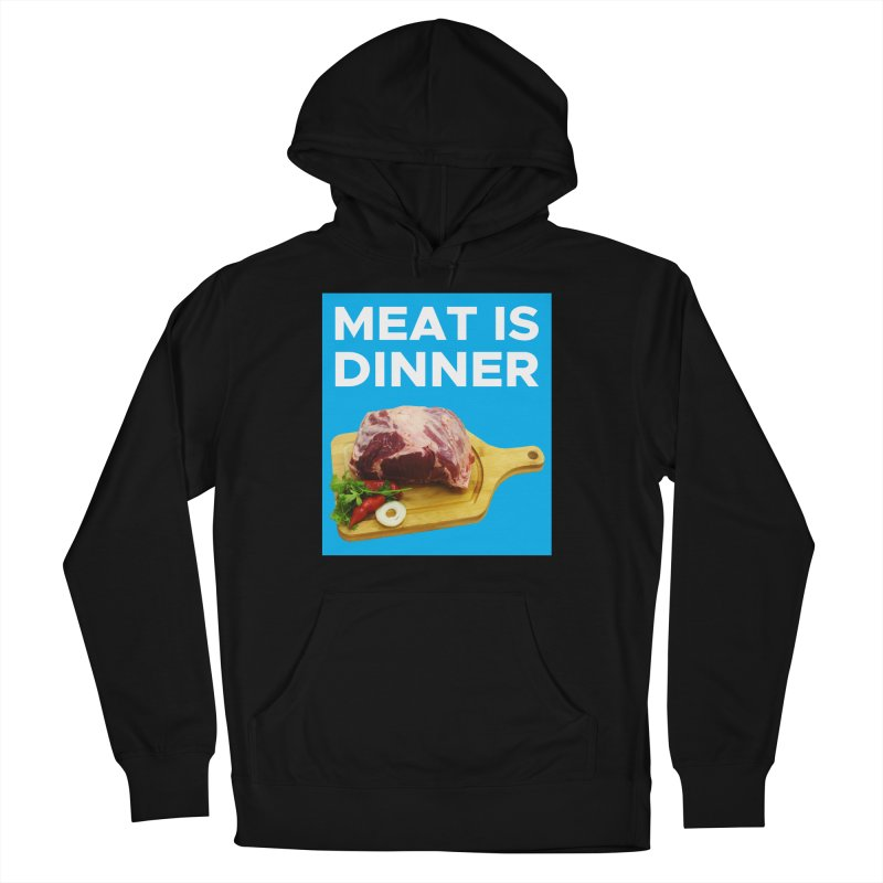 Meat Is Dinner Men's French Terry Pullover Hoody by The Rake & Herald Online Clag Emporium