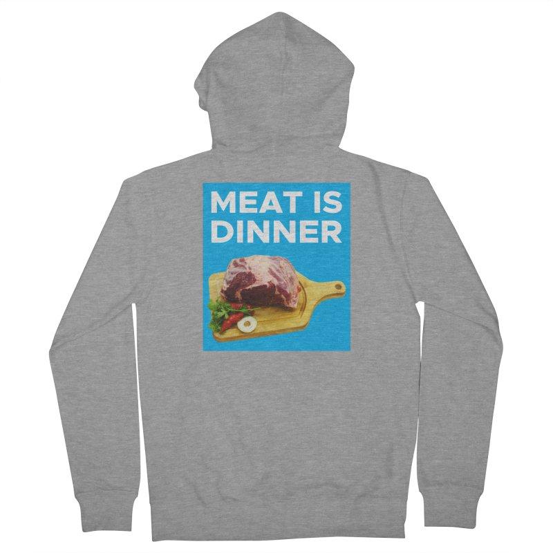 Meat Is Dinner Women's Zip-Up Hoody by The Rake & Herald Online Clag Emporium