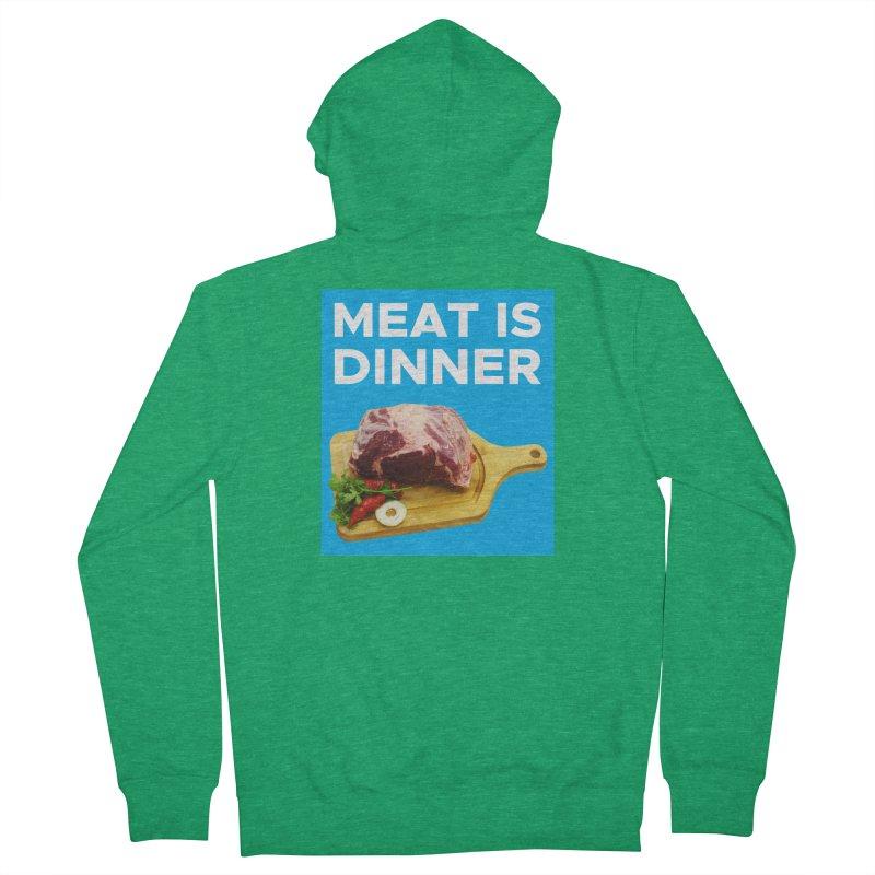 Meat Is Dinner Men's Zip-Up Hoody by The Rake & Herald Online Clag Emporium