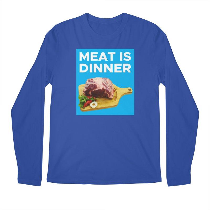 Meat Is Dinner Men's Longsleeve T-Shirt by The Rake & Herald Online Clag Emporium