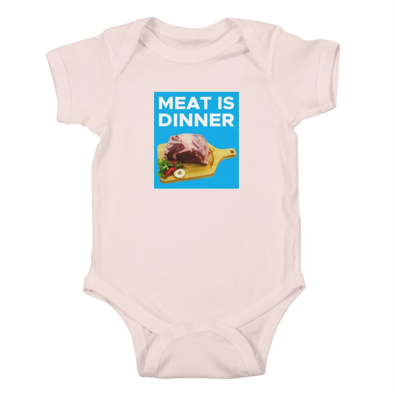 Meat Is Dinner Kids Baby Bodysuit by The Rake & Herald Online Clag Emporium